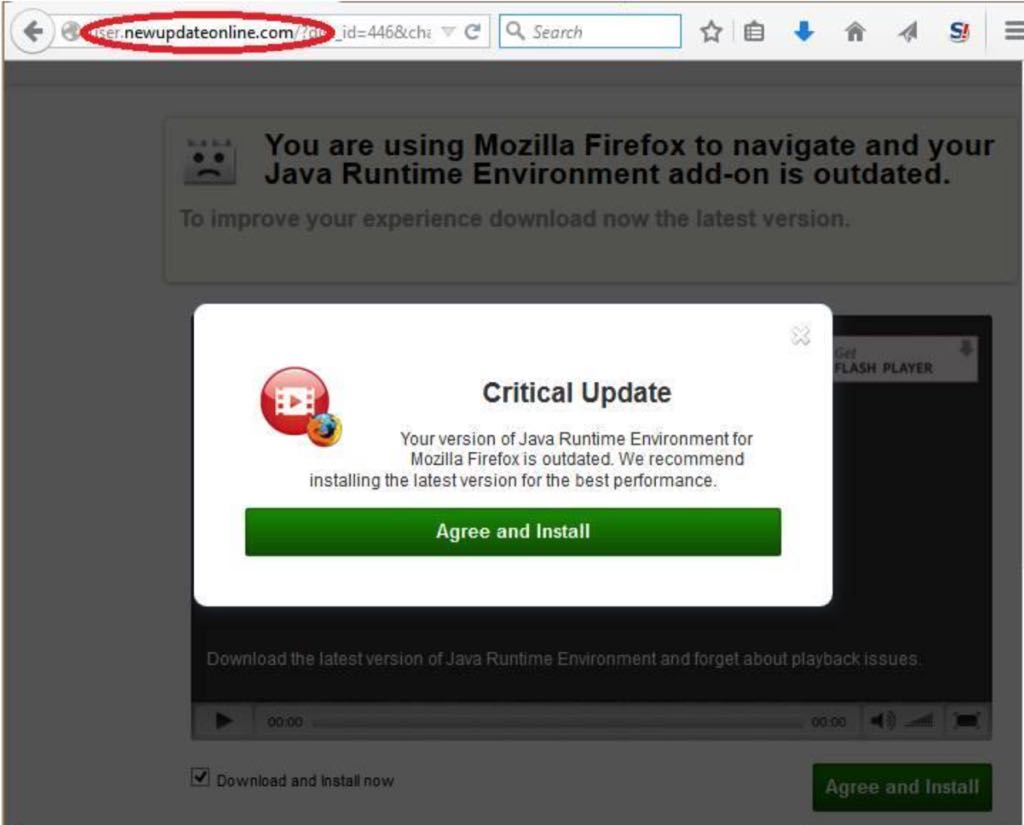 malware, falske opdateringer