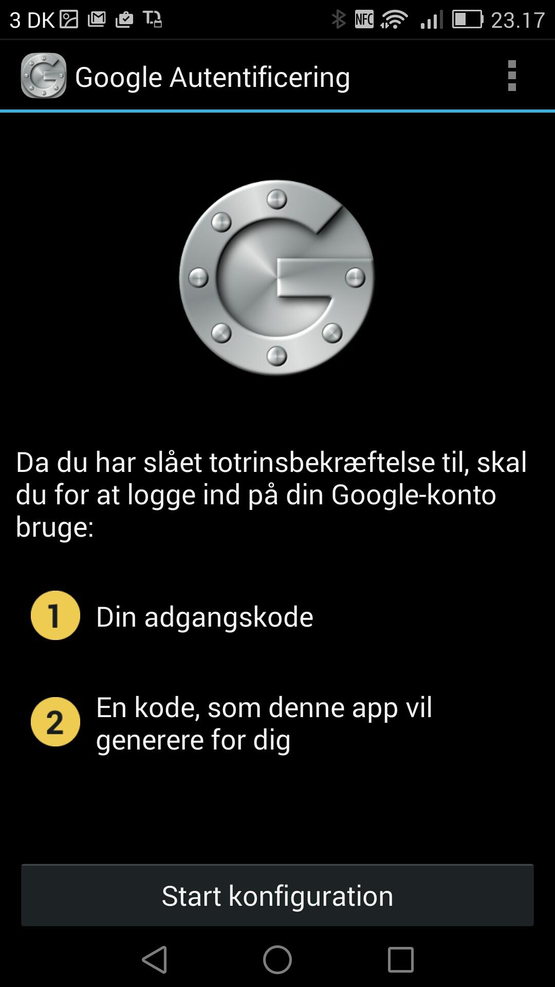 Google Autentificering