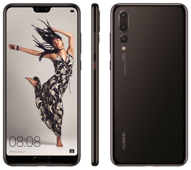 Huawei P20 Pro. Billede fra @evleaks