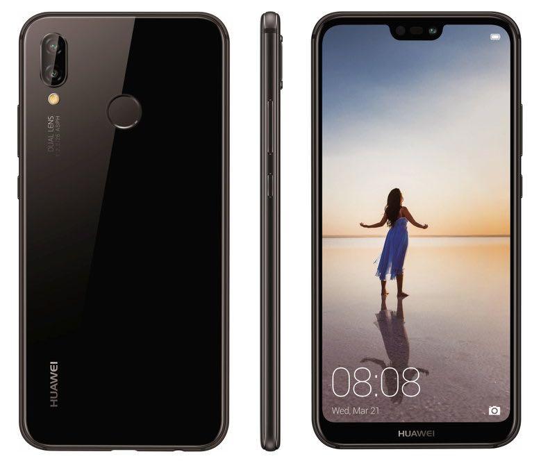 Huawei P20 Lite. Billede fra @evleaks