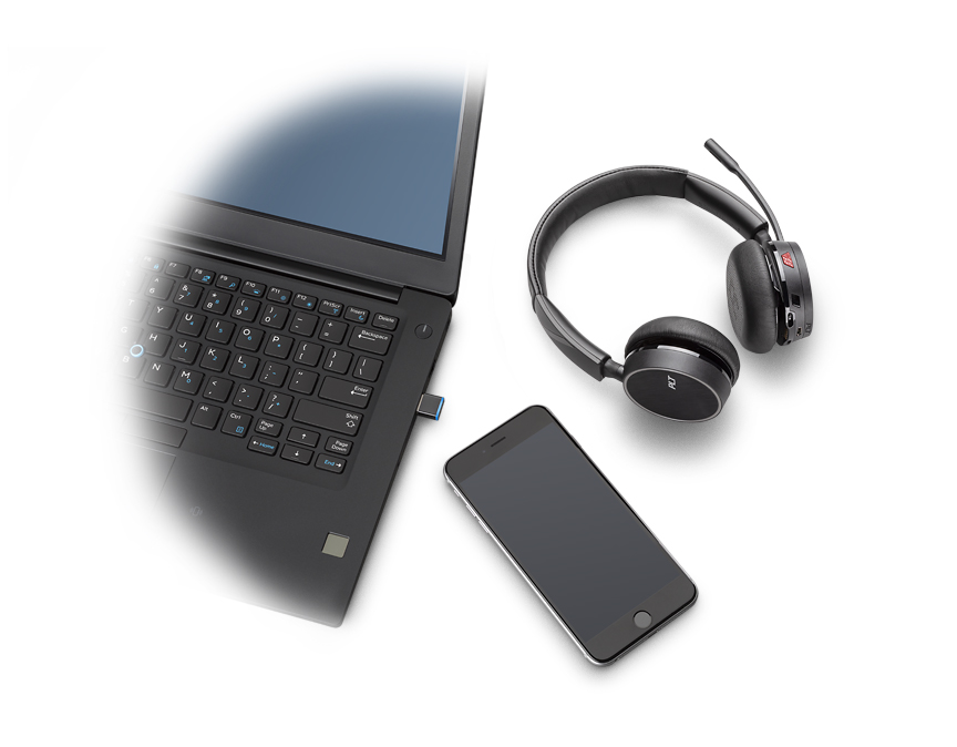 Voyager 4220 UC Laptop and Phone