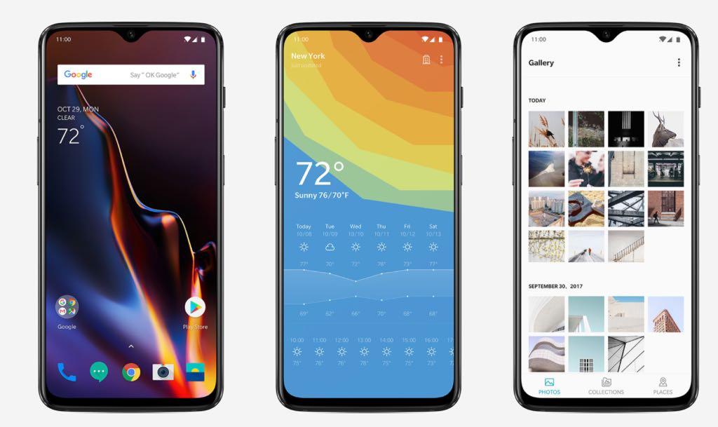 OnePlus 6t. En stor smartphone næsten uden notch. Foto: OnePlus