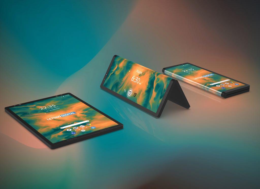 Motorolas foldbare tablet. Rendering (https://en.letsgodigital.org/)